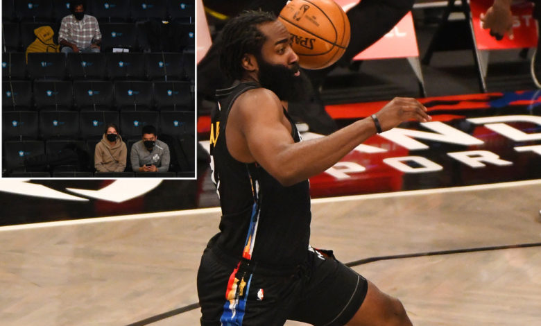 James Harden and the Nets put on a show for the fans first game back in Brooklyn. hVMnkYnow-trending