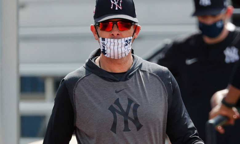Yankees manager Aaron Boone during practice at the Yankees Minor League Complex in Tampa Florida tm1uCNnow-trending