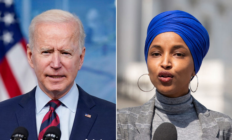 omar bashes biden for continuing buiding border wall index wJ382Vnow-trending