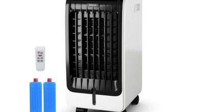 Costway Evaporative Air Cooler Portable Fan Conditioner Cooling Black PUrquOnow-trending